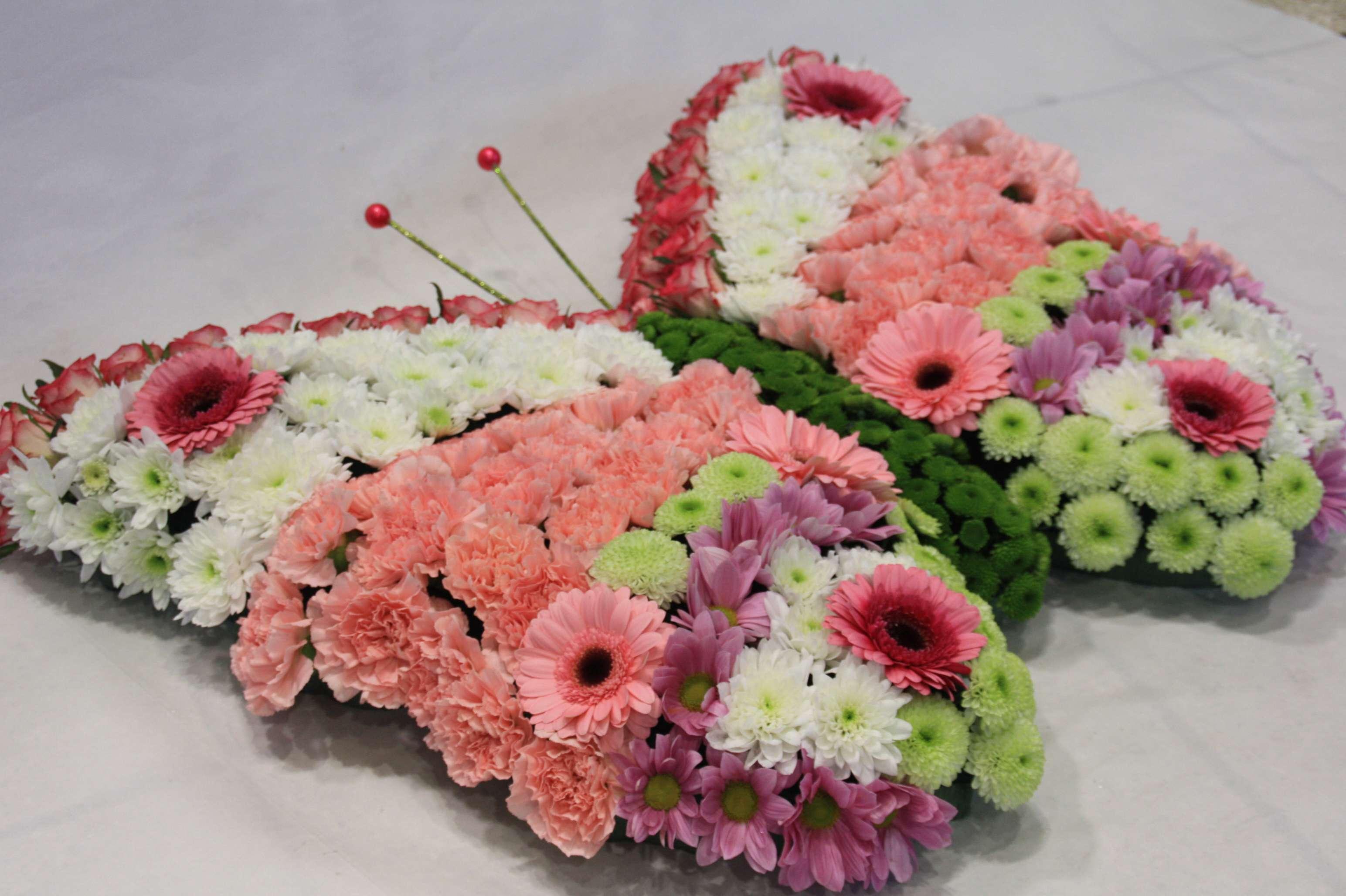 vlinder rouwboeket